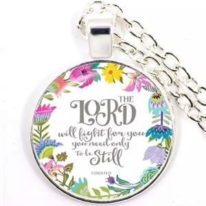 Necklace- NEW- Christian- Lord Will Fight For You